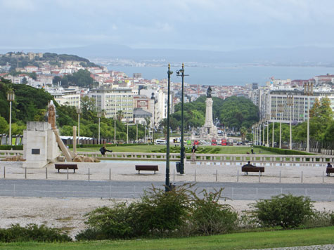 View from Parque Eduardo VII in Lisbon Portugal